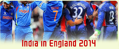 India vs England Cricket Series 2014